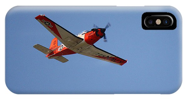 T34 Mentor Trainer Flying IPhone Case