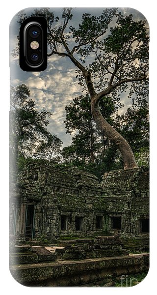Cambodia iPhone Case - Ta Phrom Massive Tree by Mike Reid