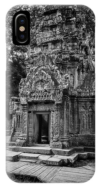 Angkor Thom iPhone Case - Ta Prohm Temple Tower by Stephen Stookey