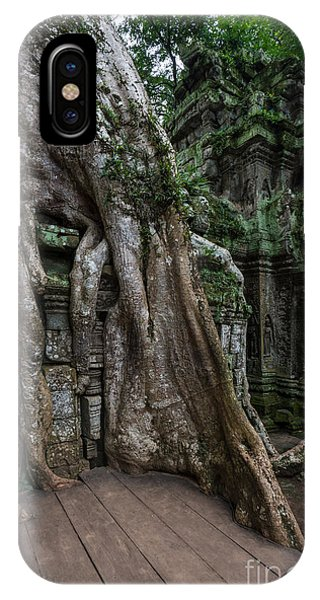Cambodia iPhone Case - Ta Prohm The Jungle Reclaims by Mike Reid
