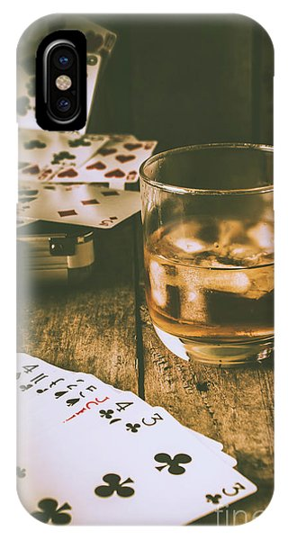 Whiskey iPhone Case - Table Games And The Wild West Saloon  by Jorgo Photography - Wall Art Gallery