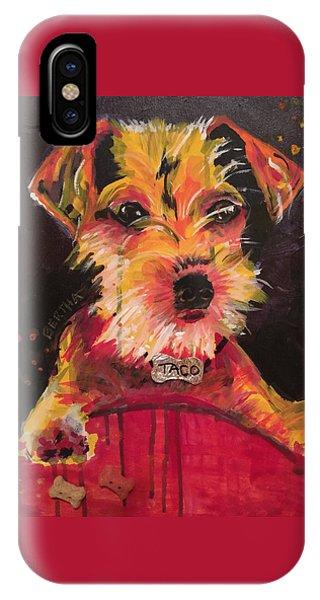IPhone Case featuring the painting Taco Tope Calderon by Karen bertha Calderon