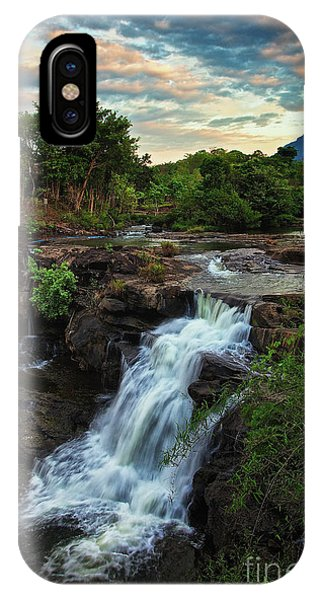 Tad Lo Waterfall, Bolaven Plateau, Champasak Province, Laos IPhone Case