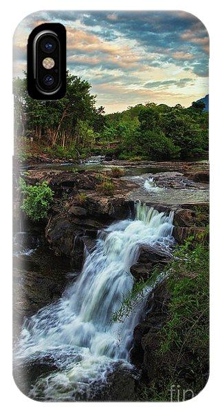 Tad Lo Waterfall, Bolaven Plateau, Champasak Province, Laos IPhone Case