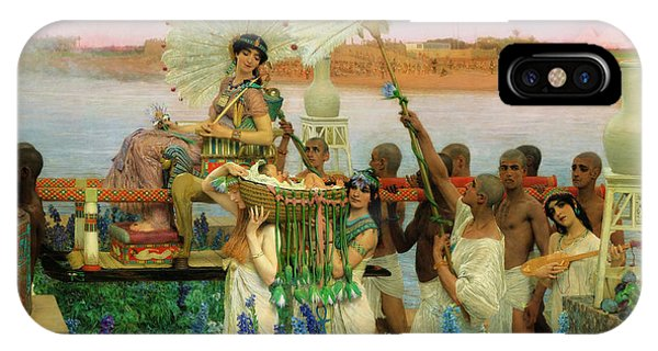 Pharaoh iPhone Case - The Finding Of Moses by Sir Lawrence Alma-Tadema