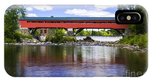 Taftsville Covered Bridge. IPhone Case