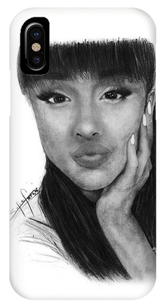 iPhone Case - Ariana Grande Drawing By Sofia Furniel by Jul V