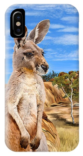 Samantha iPhone Case - Tahdita - Red Kangaroo by Samantha Tro