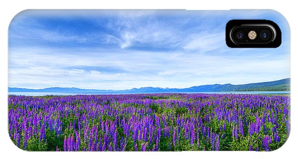 Tahoe Lupines IPhone Case