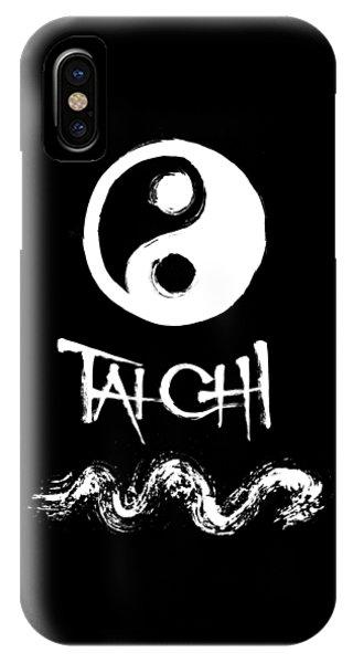 Tai Chi Black IPhone Case