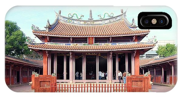 IPhone Case featuring the photograph Tainan Confucian Temple by HweeYen Ong