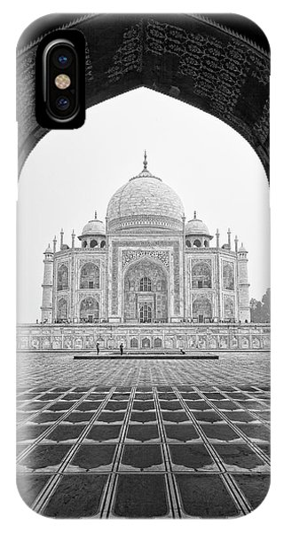 Taj Mahal - Bw IPhone Case