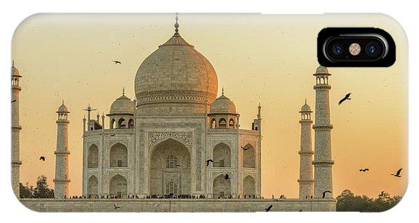 Taj Mahal At Sunset 01 IPhone Case