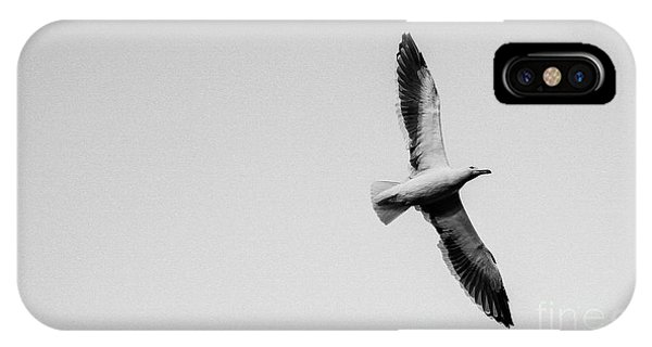 Take Flight, Black And White IPhone Case