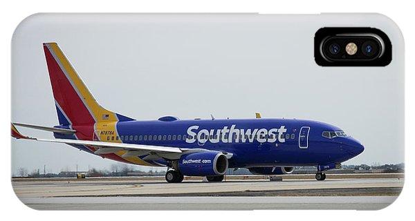 Take Off Southwest Airlines N7878a Hartsfield-jackson Atlanta International Airport Art IPhone Case
