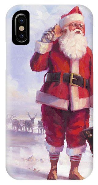 Santa Claus iPhone Case - Taking A Break by Steve Henderson