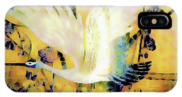 Taking Wing Above The Garden - Kimono Series IPhone Case
