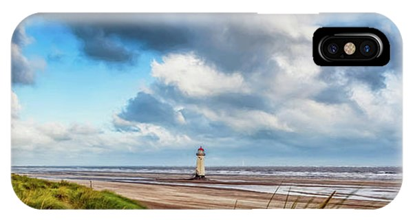 Navigation iPhone Case - Talacre Lighthouse Wales by Adrian Evans