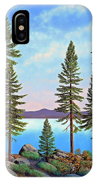 Tall Pines Of Lake Tahoe IPhone Case