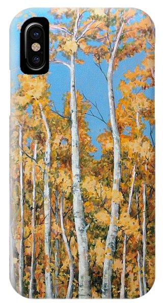 Tall Poplars IPhone Case