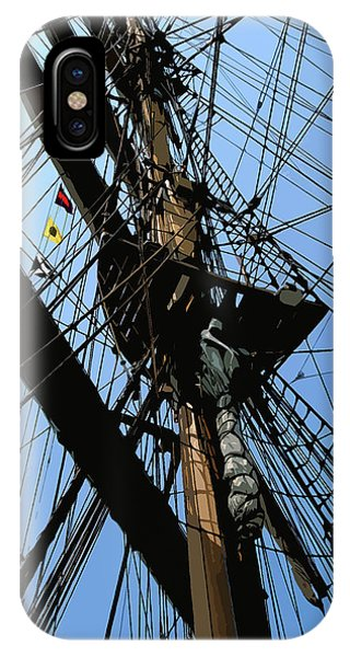 Tall Ship Design By John Foster Dyess IPhone Case