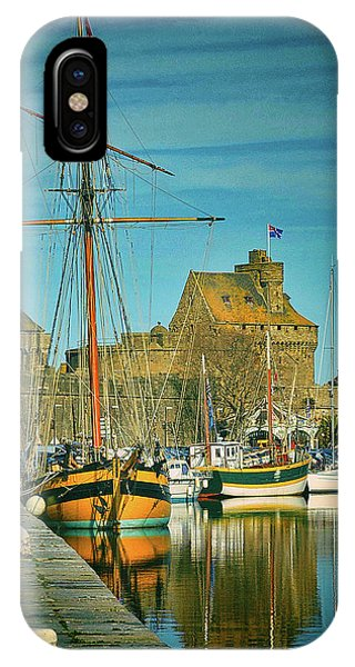 Tall Ship In Saint Malo IPhone Case