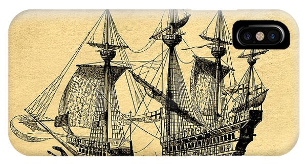 Tall Ship Vintage IPhone Case