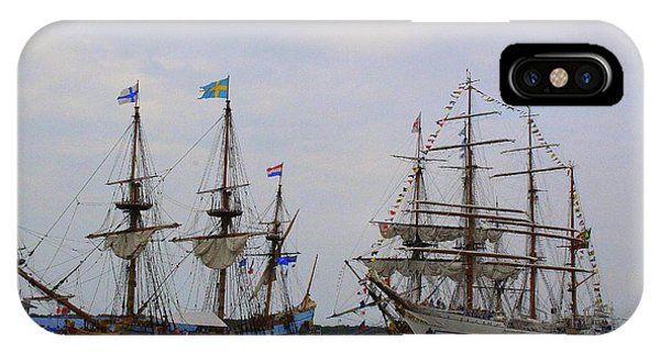 Historic Tall Ships Hermione And Sagres IPhone Case