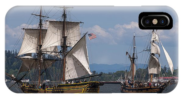 Tall Ships Square Off IPhone Case