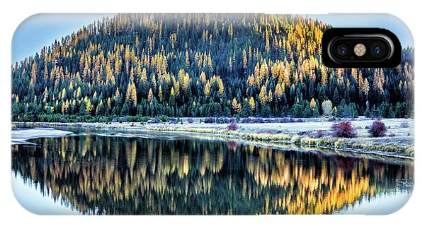 Tamarack Glow Idaho Landscape Art By Kaylyn Franks IPhone Case