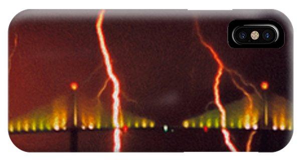 Tampa Bay Lightning Over The Skyway Bridge IPhone Case