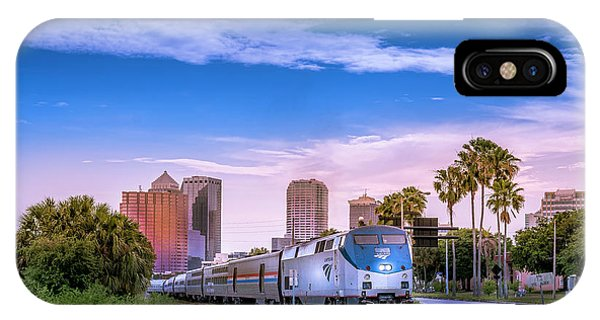 Passenger Train iPhone Case - Tampa Departure by Marvin Spates