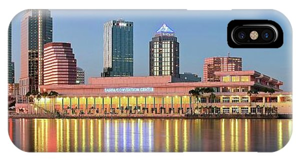 Inner World iPhone Case - Tampa Panoramic View by Frozen in Time Fine Art Photography