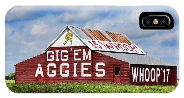 Aggie iPhone Case - Tamu Aggie Barn by Stephen Stookey