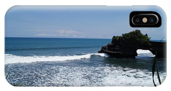 Tropes iPhone Case - Tanah Lot Temple Bali by Timea Mazug