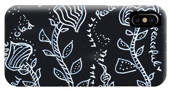 Tangle Flowers IPhone Case