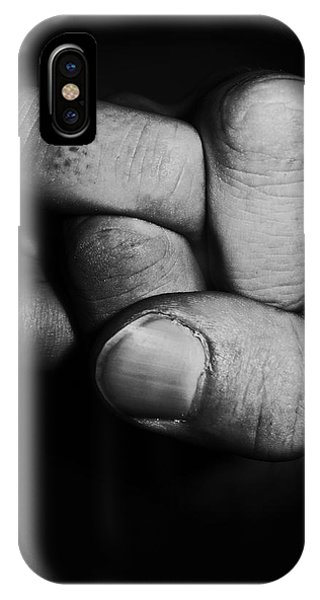 Hand iPhone Case - Tangled Fist by Nicklas Gustafsson