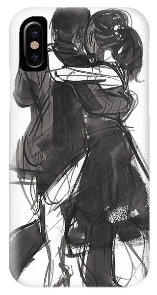IPhone Case featuring the painting Tango 2 by Judith Kunzle