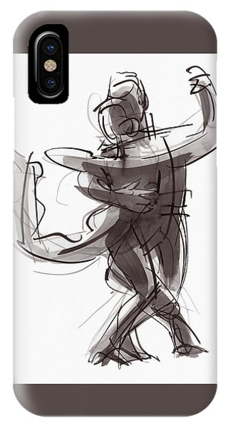 IPhone Case featuring the painting Tango #25 by Judith Kunzle