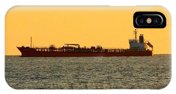 Tanker At Sunrise IPhone Case