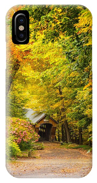 Tannery Hill Covered Bridge IPhone Case