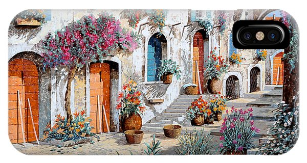 Arched iPhone Case - Tanti Fiori Per Strada by Guido Borelli