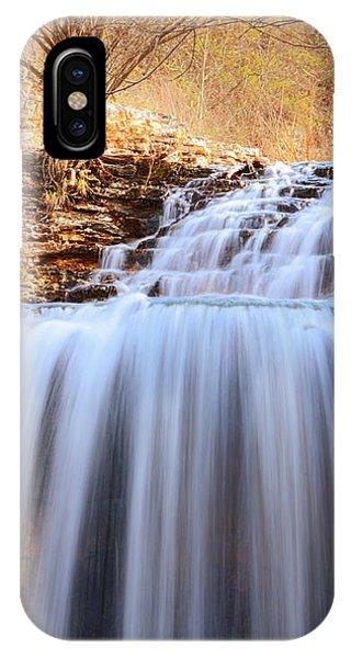 Tanyard Creek Waterfall Arkansas IPhone Case