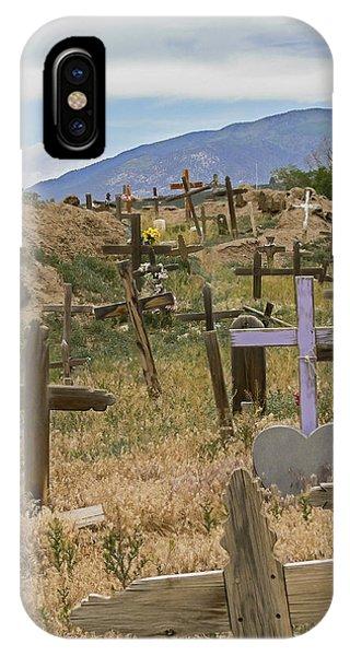 Taos Pueblo Cemetery IPhone Case
