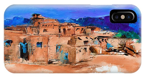 Adobe iPhone Case - Taos Pueblo Village by Elise Palmigiani