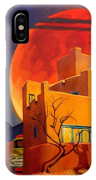 Taos Wolf Moon IPhone Case