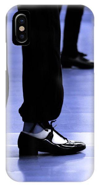 Tap Dance In Blue Are Shoes Tapping In A Dance Academy IPhone Case