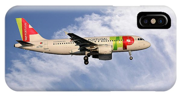 Portugal iPhone Case - Tap Portugal Airbus A319-111 by Smart Aviation