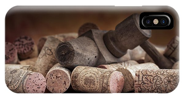 Antiques iPhone Case - Tapped Out - Wine Tap With Corks by Tom Mc Nemar