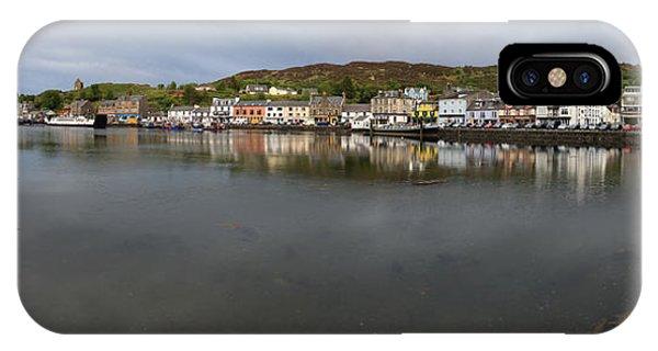 Tarbert Harbour - Panorama IPhone Case
